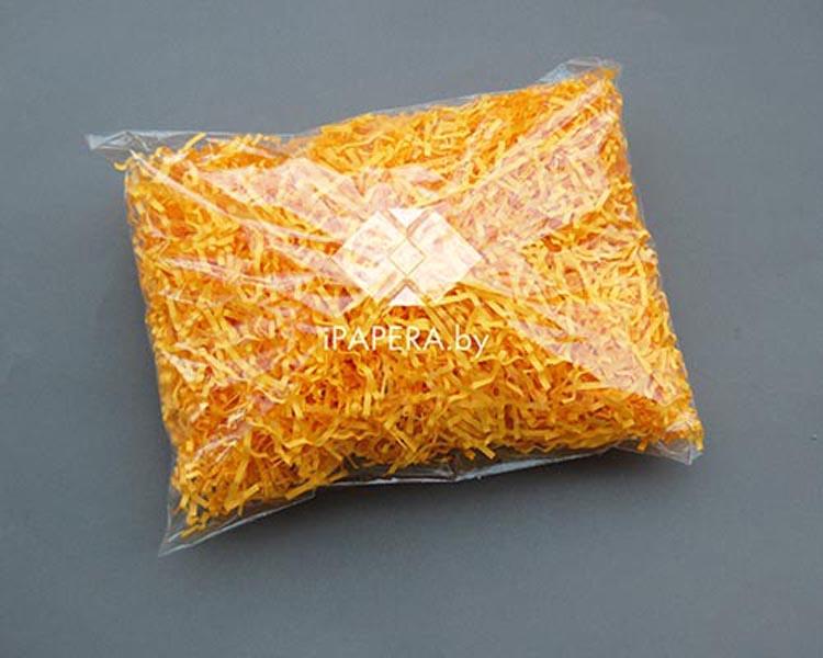 Солнечно-желтая бумажная стружка (гофрированная)