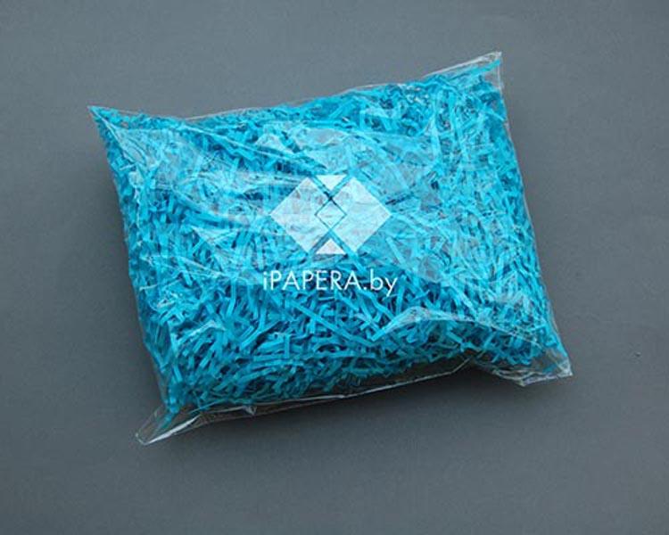 Синяя бумажная стружка (гофрированная)