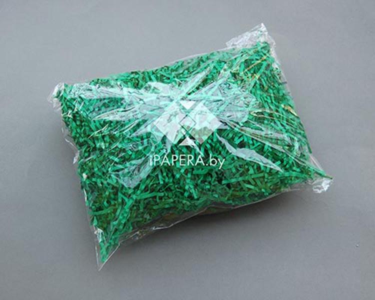 Зеленая бумажная стружка (гофрированная)
