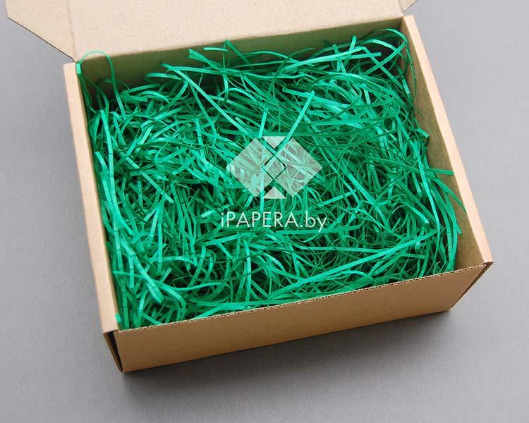 Зеленая бумажная стружка