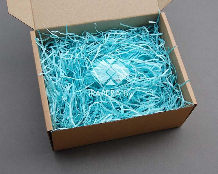 Голубая бумажная стружка