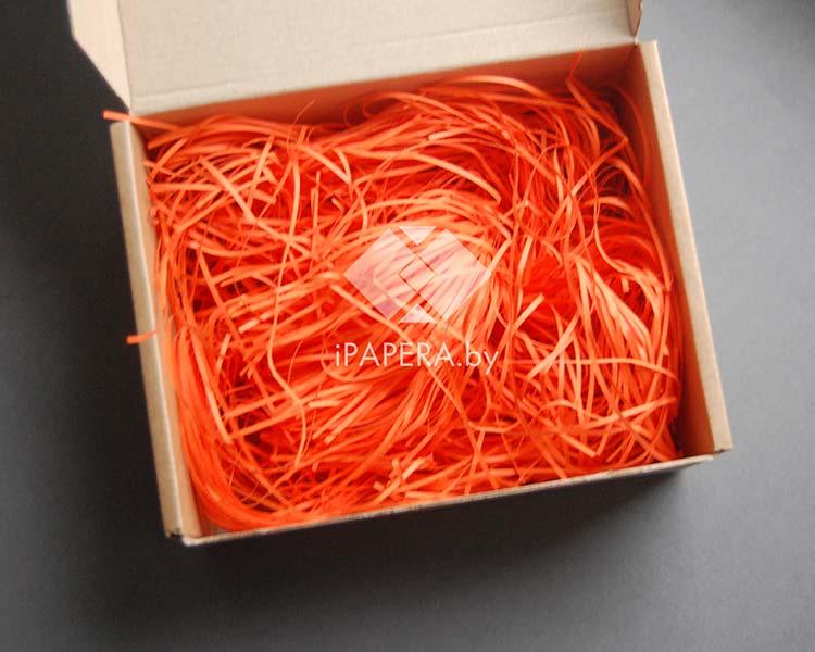 Оранжевая бумажная стружка