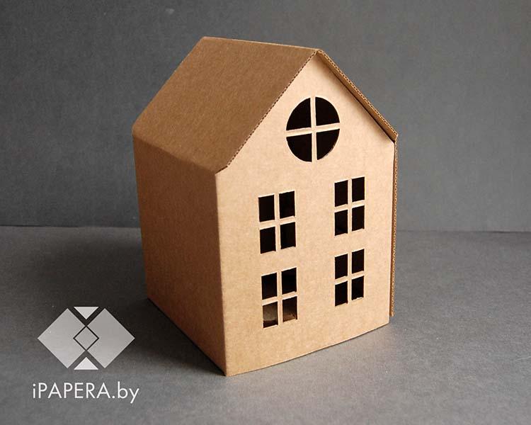 Крафт коробка домик (маленький)