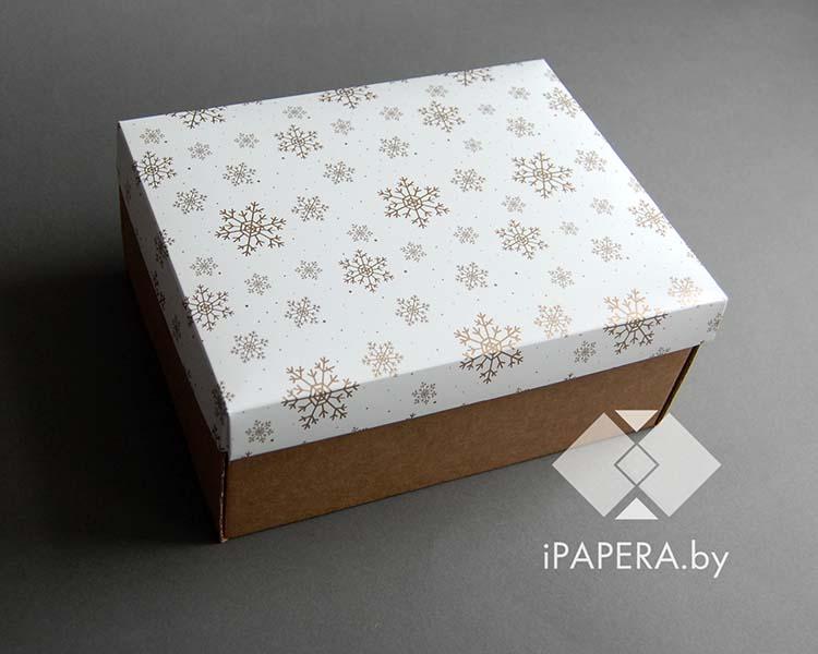 """Крафт коробка """"Снежинки"""""""
