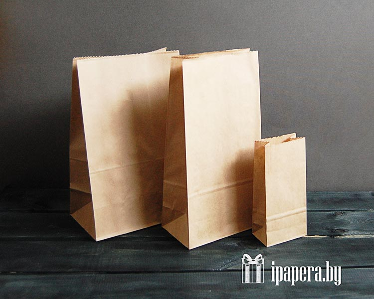 Крафт пакеты без ручек