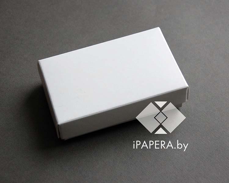 Коробка белая из мелованного картона