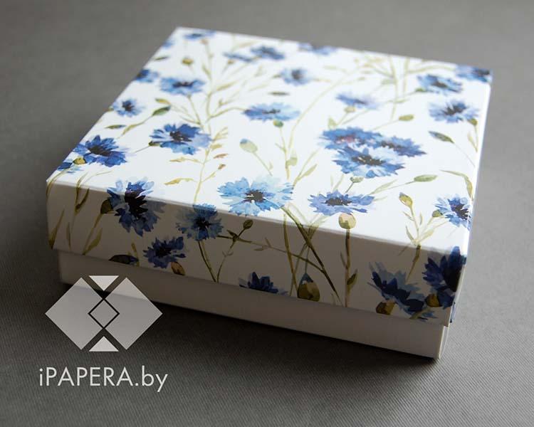 "Коробка из мелованного картона ""Васильки"""