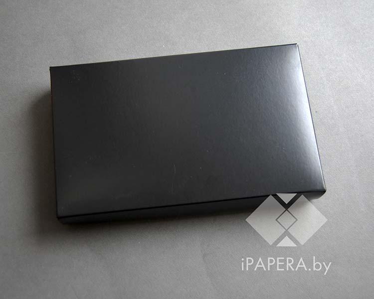 Коробка из мелованного картона черная