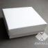 Коробка из мелованного картона белая