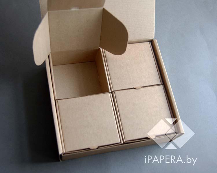 Крафт коробка с 4-мя вложенными коробками