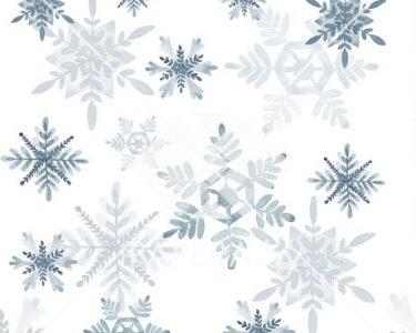 Акварельные снежинки