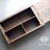 Деревянная коробка с отсеками