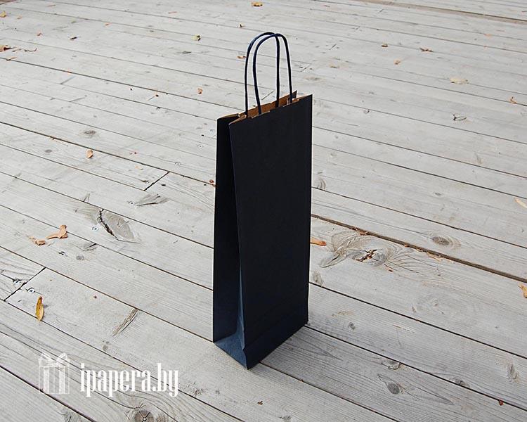 Крафт-пакет для вина (1 бут) - синий
