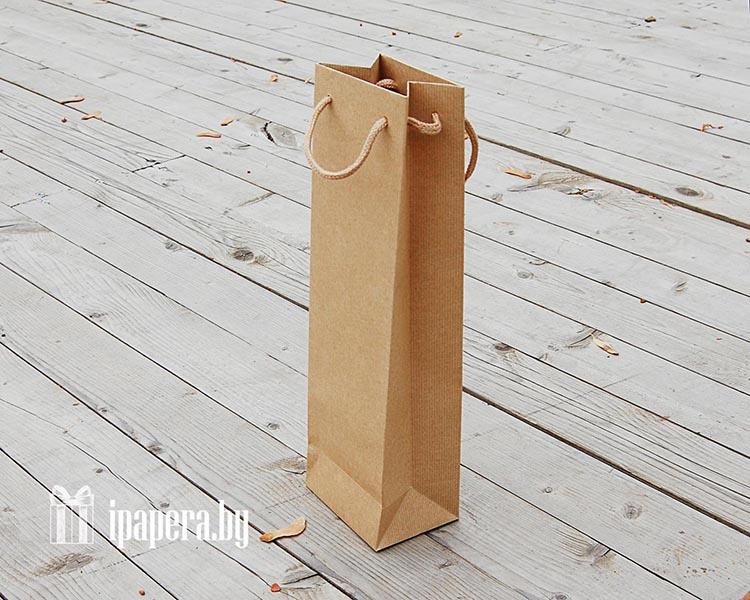 Плотный крафт-пакет для вина (1 бут)
