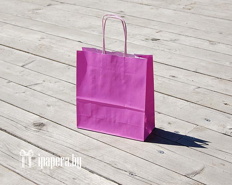Розовый крафт пакет