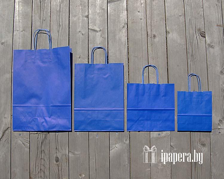 Синие крафт пакеты