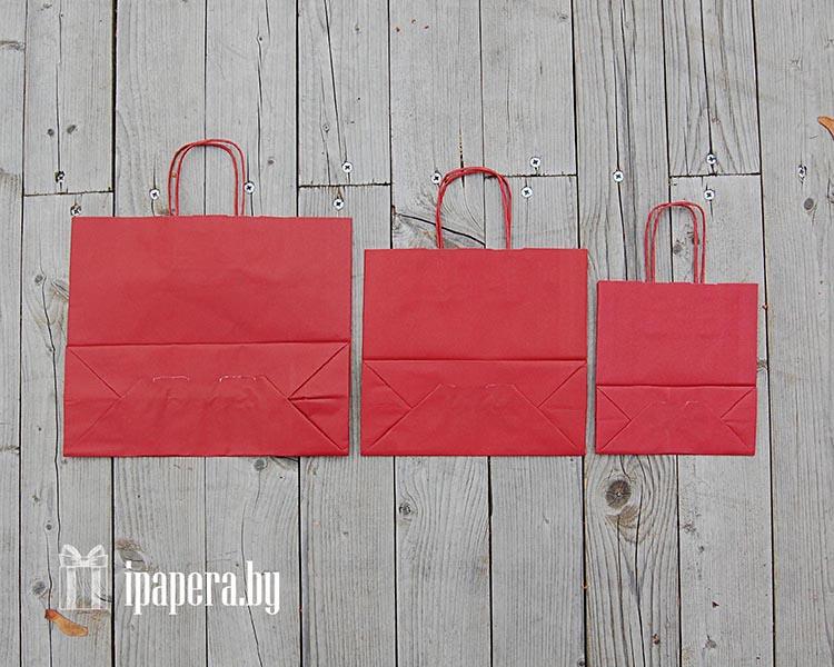 Крафт-пакеты (темно-красные)