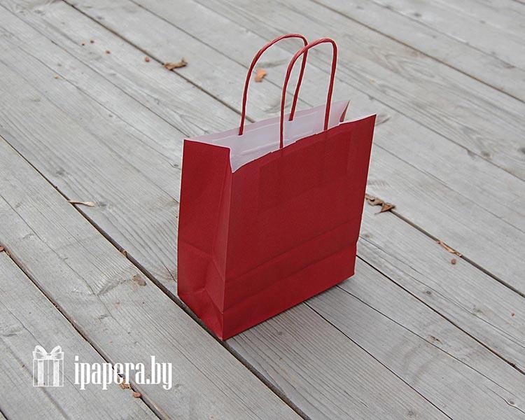 Крафт-пакет (темно-красный)