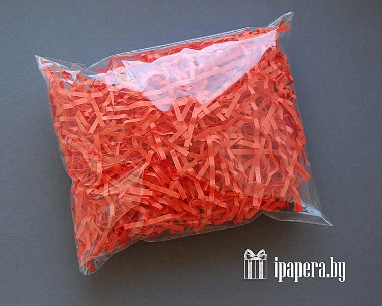 Красная бумажная стружка (гофрированная)