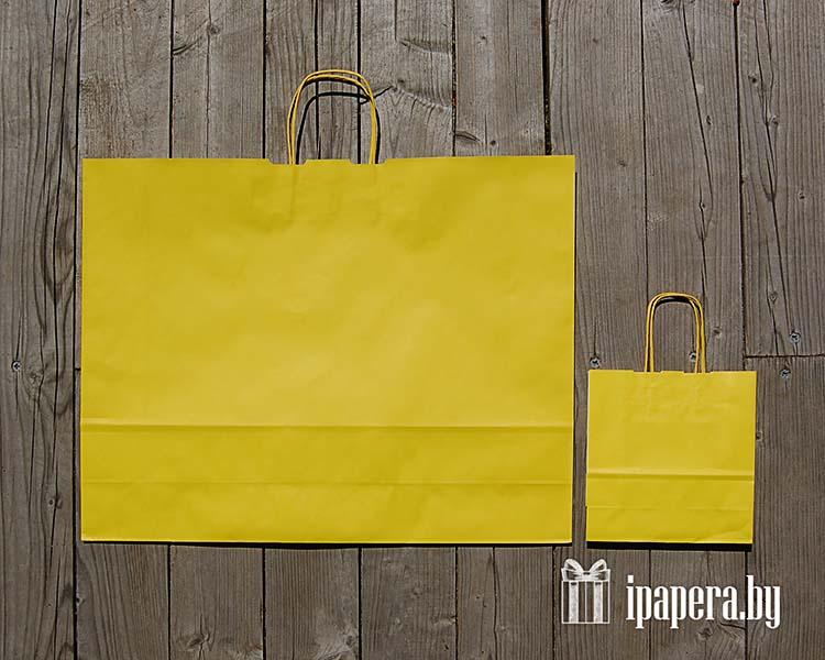 Желтый крафт пакет